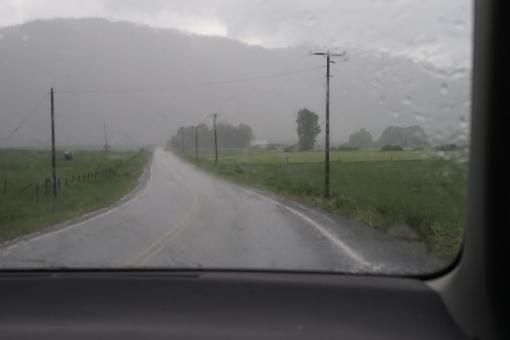 Road and Rain, May 25, 2015